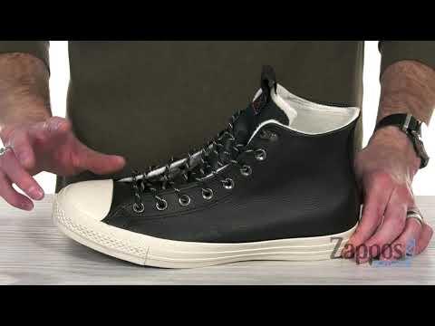 Converse Chuck Taylor All Star Leather Hi black auf ✓