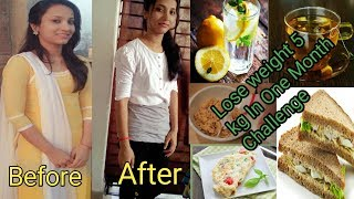 Weight loss diet plan😊||Lose 5kg In 1 Month😊llweight loss