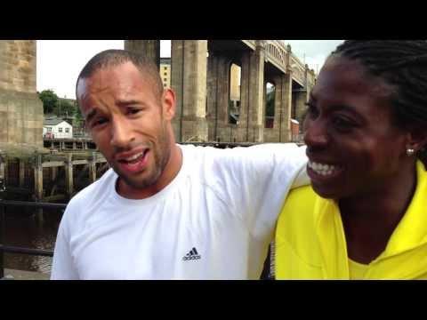 Christine Ohuruogu interviews Kim Collins and James Ellington