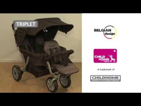 Childwheels Triplet stroller