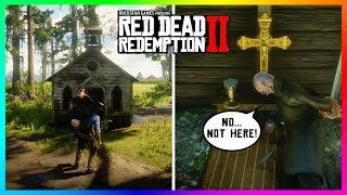 If You Get The Vampire Inside The Tiny Church In Red Dead Redemption 2 Something SPOOKY Will Happen!