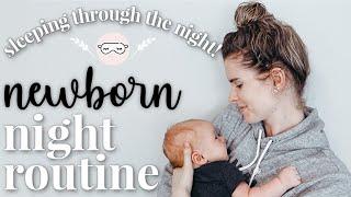 SLEEPING THROUGH THE NIGHT AT 5 WEEKS! || NEWBORN NIGHT ROUTINE || Tips & Tricks!