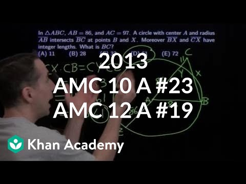 2013 AMC 10 A #23 / AMC 12 A #19 (video) | Khan Academy