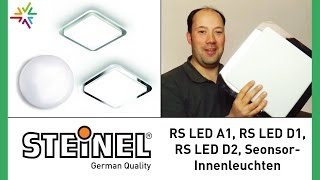 STEINEL RS LED A1, RS LED D1, RS LED D2 Sensor Innenleuchten [watt24-Video Nr. 75]