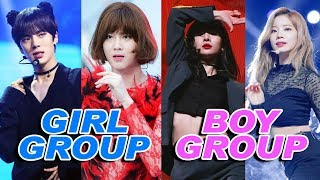 Boy Groups and Girl Groups Change Songs - KPop Duality