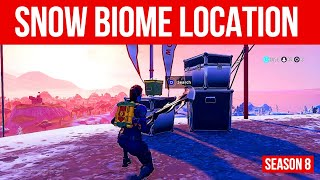 Search Ammo Boxes In The Snow Biome Location - Season 8 Week 3 Challenges - Fortnite Challenge Guide