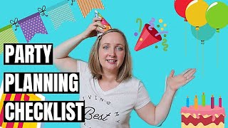 How to Plan a Birthday Party (FREE CHECKLIST)