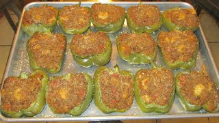 How To Make New Orleans Stuffed Bell Peppers.