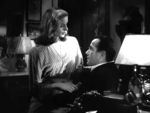 Scene from To Have and Have Not - Bogart & Bacall