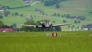preview picture of video 'Ju-52 coming in with a three-point landing at Buochs'
