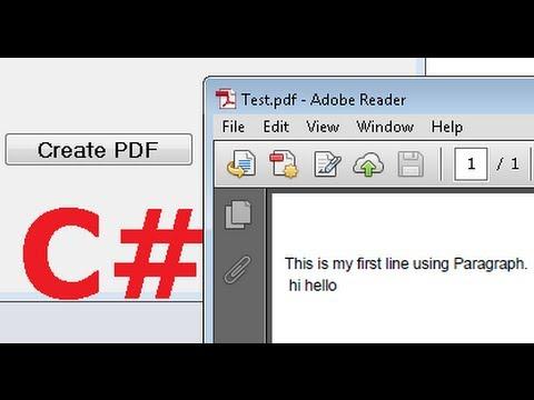 PDFSHARP RTF TO PDF