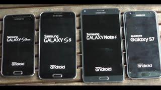 Samsung Galaxy S7 vs Note 4 vs S5 vs S5 mini benchmark test