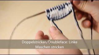 Doubleface stricken - verständlich erklärt - linke Maschen stricken