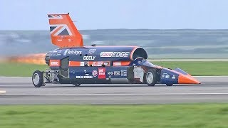 World's Fastest Car – 1000mph Bloodhound SSC – First Public Runs