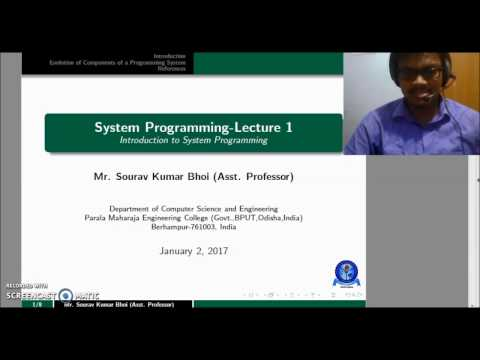 System Programming - Lecture 1: Introduction