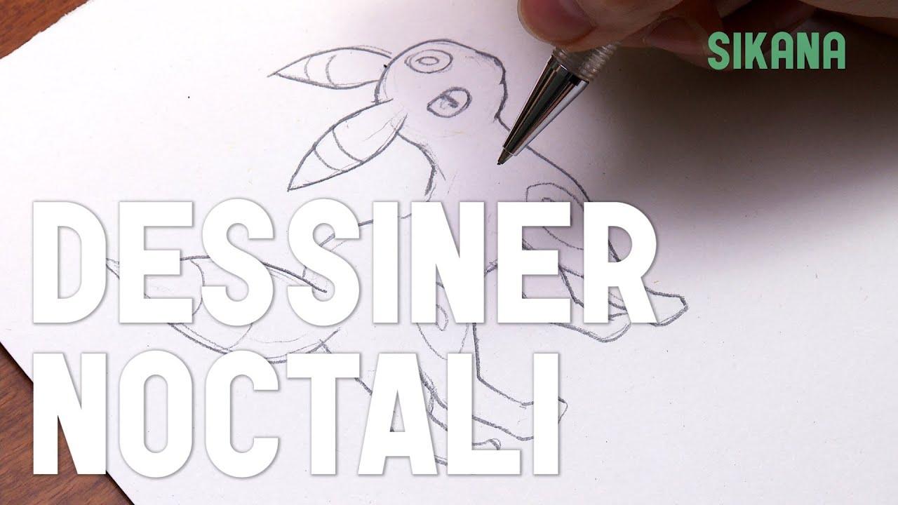 Noctali pok mon dessiner des personnage de bd et - Apprendre a dessiner pokemon ...