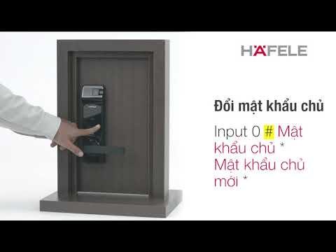 Khóa điện tử thông minh Hafele Hafele EL7700-TCS