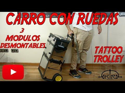 CARRO de 3 módulos Trolley para Tattoo Video Tutorial de Akira Body Art