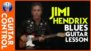 Jimi Hendrix Blues Guitar Lesson - How to Play Up From The Skies by Hendrix [Beginner Friendly]