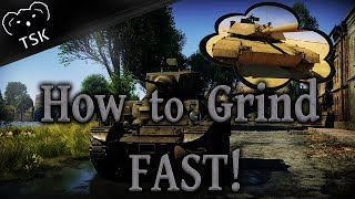 War Thunder - How To Earn MORE Research Points & Grind Vehicles FAST!!!