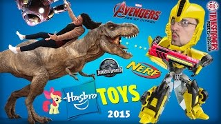 Mom & Dad in a HUGE World of Toys! Jurassic World, Transformers, Nerf, Avengers, MLP, Nerf (Hasbro)