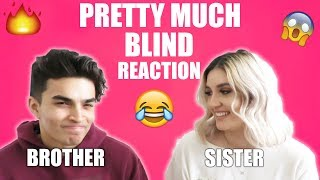 BROTHER AND SISTER Reacts To PRETTYMUCH BLIND ! (HER FIRST REACTION TO THEM!)