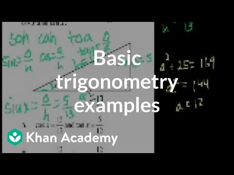 Ca Geometry Basic Trigonometry Video Khan Academy