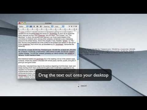 Create Text Clippings By Dragging Text To Your Mac's Desktop