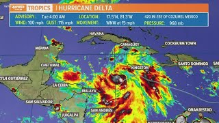 Tuesday 4 am update: Tropical Storm Delta jumps to category-2 storm, still forecast for Louisiana la