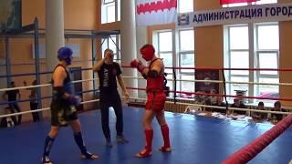 Зухаво Влад - Мельников Иван, открытый турнир по тайскому боксу, муай тай, Омск - 2016