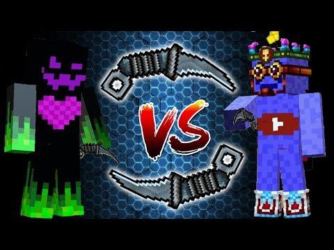 Pixel Gun 3D - Tactical Knife (JustSpawn VS Nemesis PG) Duel + Gameplay