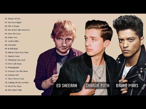 Ed Sheeran, Bruno Mars ,Charlie Puth Best Hits Songs,Greatest Hits Pop Playlist 2018