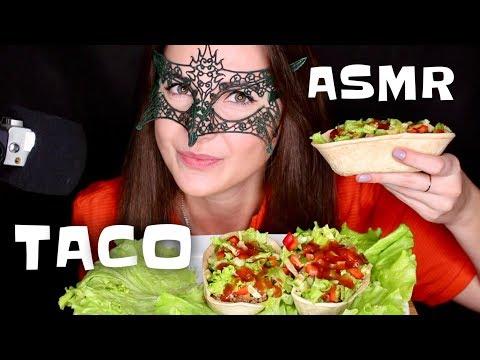 АСМР ИТИНГ Тако по-мексикански *РЕЦЕПТ и ЗВУКИ ЕДЫ*/ASMR Mukbang TACO COOKING&EATING SOUNDS