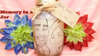 DIY Memory In A Jar (Mason Jar Gift Ideas)