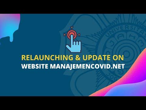 Relaunching & Update On Website Manajemencovid.net