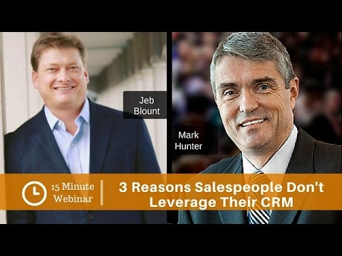 3 Reasons Salespeople Don't Leverage Their CRM (and what to do about it) - Video Image
