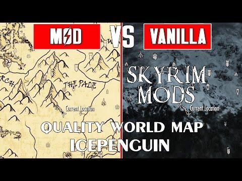 Карта всех дорог / A Quality World Map and Solstheim Roads ...