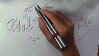 HOW TO WRITE CALLIGRAPHY WITH A NORMAL PEN