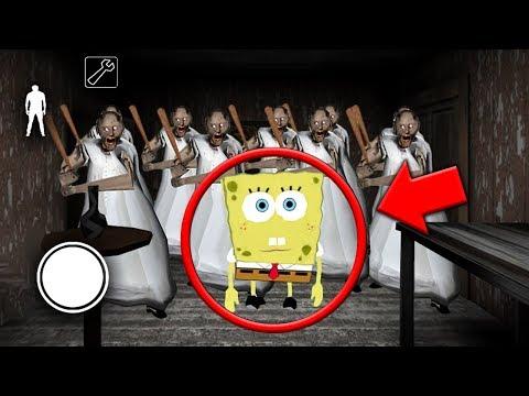 How to Defeat Spongebob vs 100 Granny Clones in Granny MULTIPLAYER! (Granny Horror Game Multiplayer) (видео)