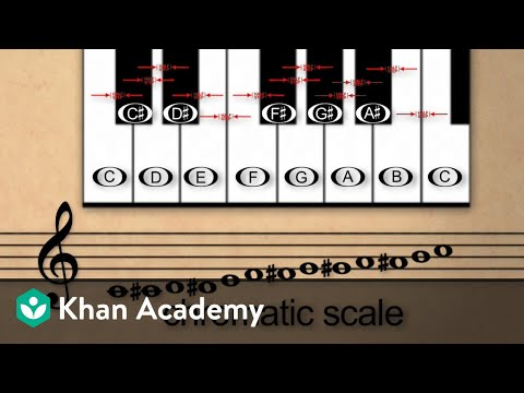 Lesson 10: Chromatic scales and the half step (video) | Khan