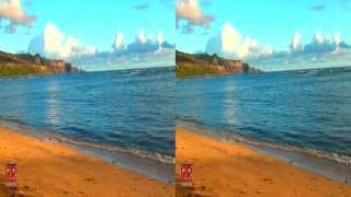 3D Video Beach Hawaii Nature Scene - 3D Video Everyday N°112