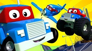 Carl The Super Truck - THE SUPER LIVE ! Car City - Police Cars Trucks Cartoons For Kids - Official