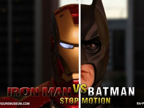 Iron Man vs Batman: Interactive Stop Motion Parody