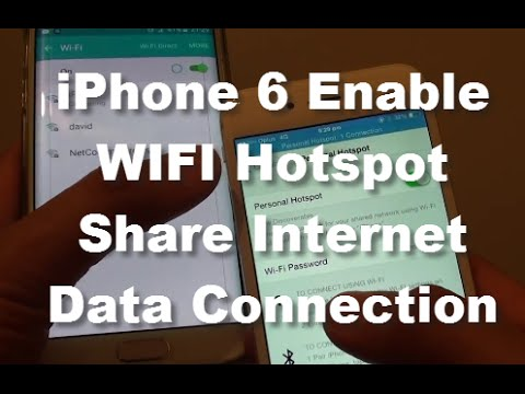 iPhone 6: How to Enable Personal WiFi Hotspot and Share Internet Connection