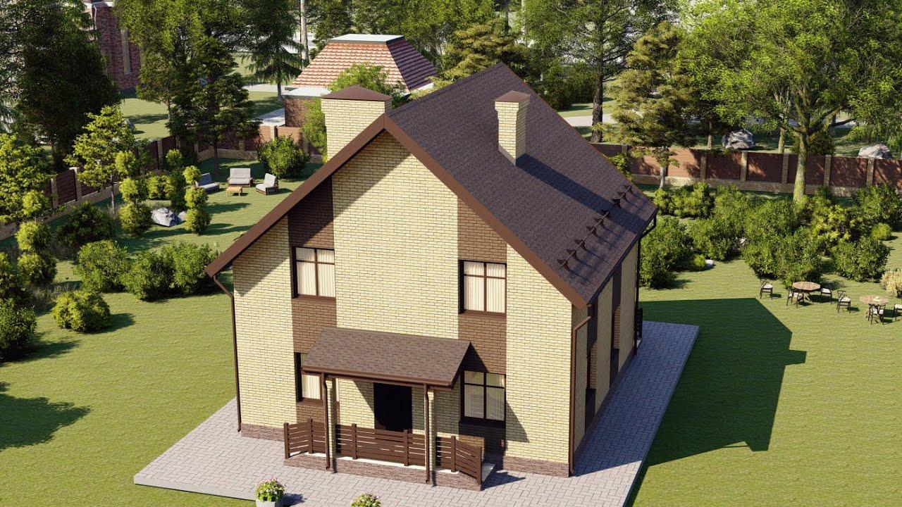Дом из газобетона с мансардой 120 м2