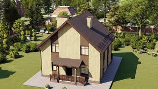 Проект дома 120-C, Площадь дома: 120 м2, Размер дома:  9,2x9,4 м
