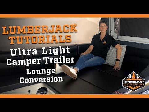 Ultra Light Camper Trailer Lounge Conversion