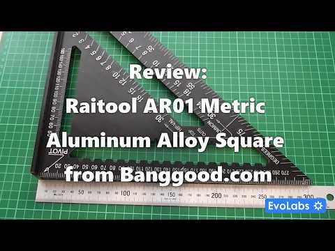 Review: Raitool AR01 Metric Aluminum Alloy Square from Banggood.com