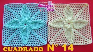 Cuadrado A Crochet De Hojitas Para Mantitas De Bebe Y Cojines Paso A Paso