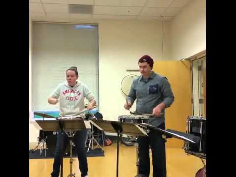 An adorable snare drum moment.